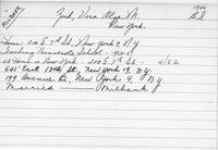 Gallaudet University alumni card: Vira Olga M. Zuk : B.S., 1950