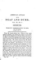 American Annals of the Deaf and Dumb Vol.11 No.1