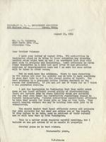 Letter from Benjamin M. Schowe to A.G. Leisman, August 13, 1940