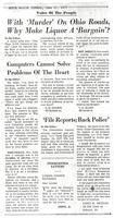Computers Cannot Solve Problems of the Heart, (Akron Beacon Journal, June 21, 1971)