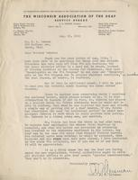 Letter from A.G. Leisman to Benjamin M. Schowe, August 26, 1940