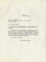Letter from Benjamin M. Schowe to A.L. Roberts, March 27, 1940