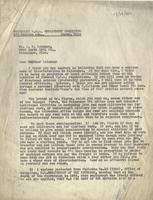 Letter from Benjamin M. Schowe to A.G. Leisman, August 29, 1940