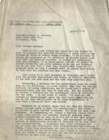 Letter from Benjamin M. Schowe to A.G. Leisman, October 26,1940