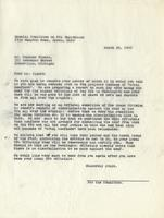 Letter from the Special Committee on W.P.A. Employment to Raymond Pleake, March 28, 1940