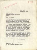 Letter from Benjamin M. Schowe to Ann Murray, Assistant Supervisor of PWA Projects, December 10, 1937