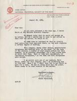 Letter from A.L. Roberts to Benjamin M. Schowe, August 28, 1941