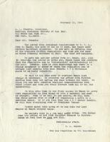 Letter from Benjamin M. Schowe to A.L. Roberts, February 10, 1940