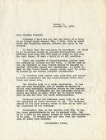 Letter from Benjamin M. Schowe to A.L. Roberts, January 16, 1940
