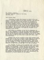Letter from Benjamin M. Schowe to Arthur L. Roberts, March 21, 1940