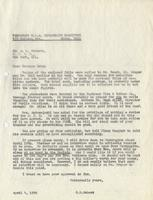 Letter from Benjamin M. Schowe to A.L. Roberts, April 4, 1940