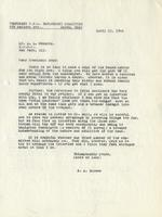 Letter from Benjamin M. Schowe to A.L. Roberts, April 13, 1940