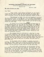 Letter from A.L. Roberts to Benjamin M. Schowe, March 8, 1938