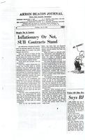 Inflationary or Not, SUB Contracts Stand (Akron Beacon Journal, December 9, 1958)
