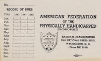 American Federation of the Physically Handicapped, Incorporated, 1942