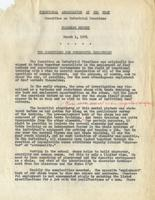 Vocational Association of the Deaf: Committee on Industrial Practices, Progress Report, March 1, 1951