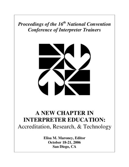 A New Chapter In Interpreter Education Accreditation Research