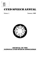 Cued speech annual : journal of the National Cued Speech Association
