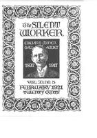 The Silent Worker vol. 33 no. 5