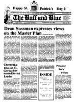 The Buff and Blue: Vol. 92, no. 18 (1985: Mar. 15)