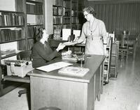 Edward Miner Gallaudet Memorial Library -- Interior (1956)