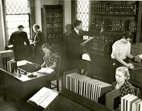 College Hall -- Interior -- Library (1935)