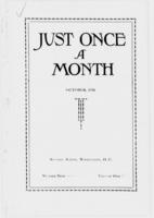 Just Once a Month, Vol. 10, No. 1