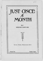 Just Once a Month, Vol. 10, No. 8