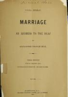 Marriage : an address to the deaf