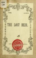 The lost heir; or, The Abbe de l'Epee. : an historical drama in three acts